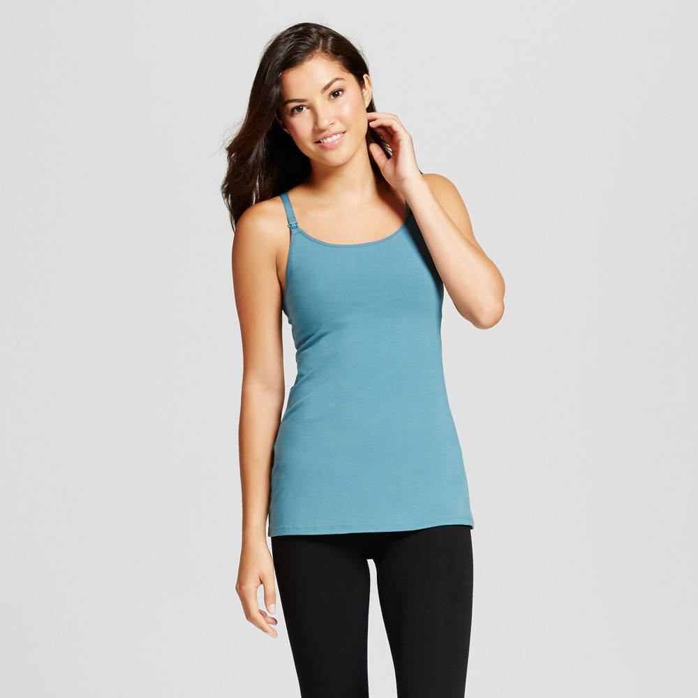 Womens Nursing Cotton Cami - Nokomis Blue M