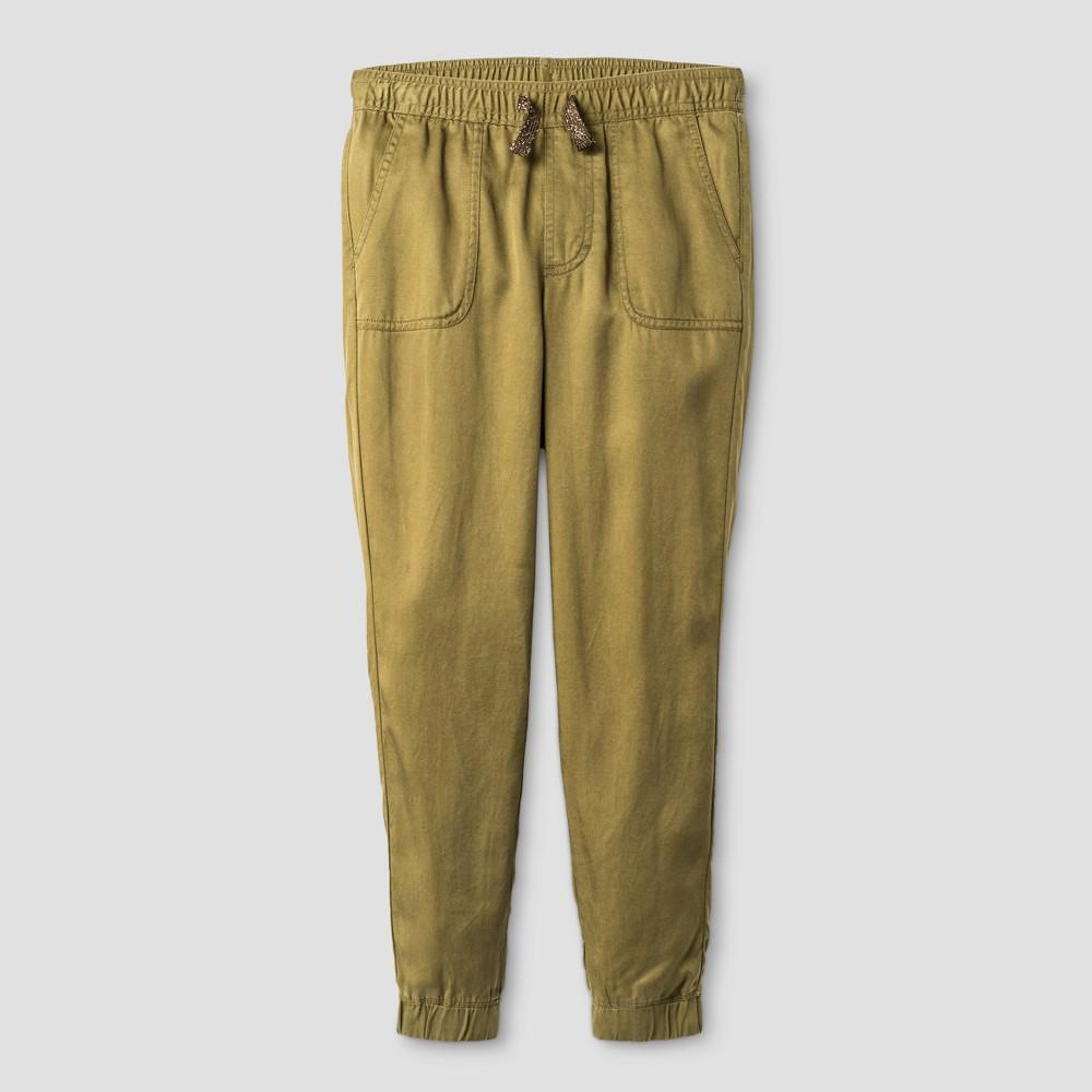 Girls Utility Fashion Jogger Pants - Cat & Jack Spring Olive Xxl, Green