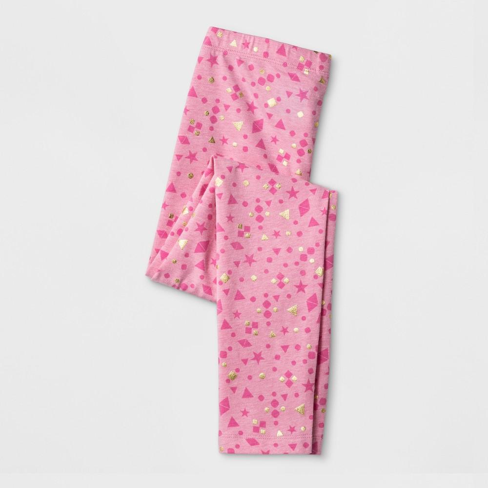 Girls Shapes Favorite Leggings - Cat & Jack Pink L, Yellow
