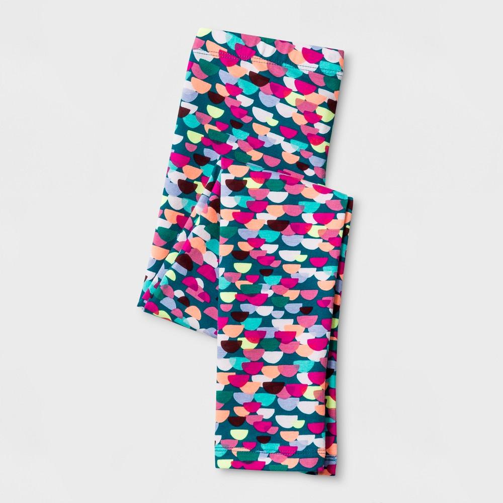 Girls Multi Print Favorite Leggings - Cat & Jack Teal L, Blue