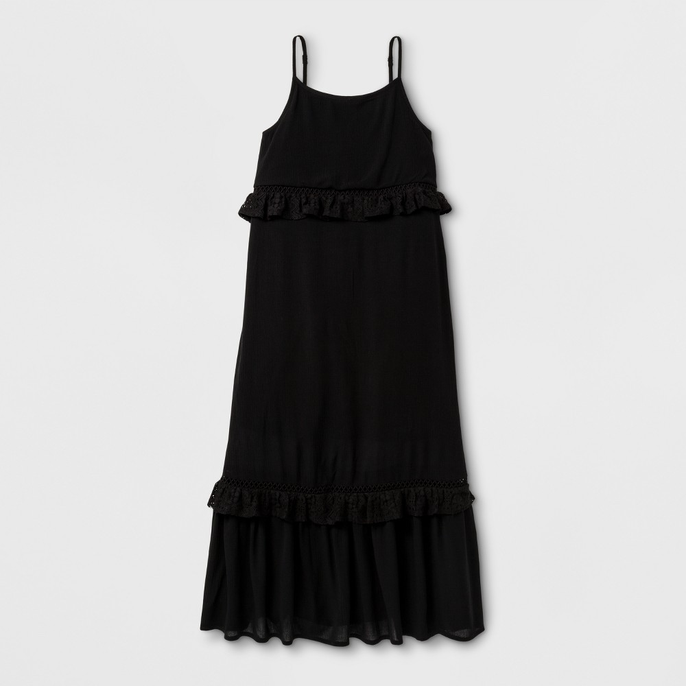 Girls Maxi Dress - Art Class Black XS