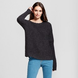 Women's One Shoulder Pullover Sweater - Mossimo™ Gray