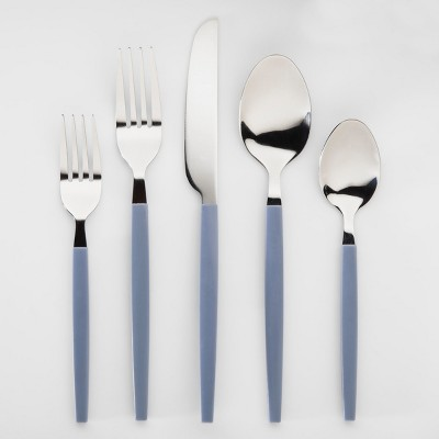 20pc Silverware Set Ripple Blue - Room Essentials™