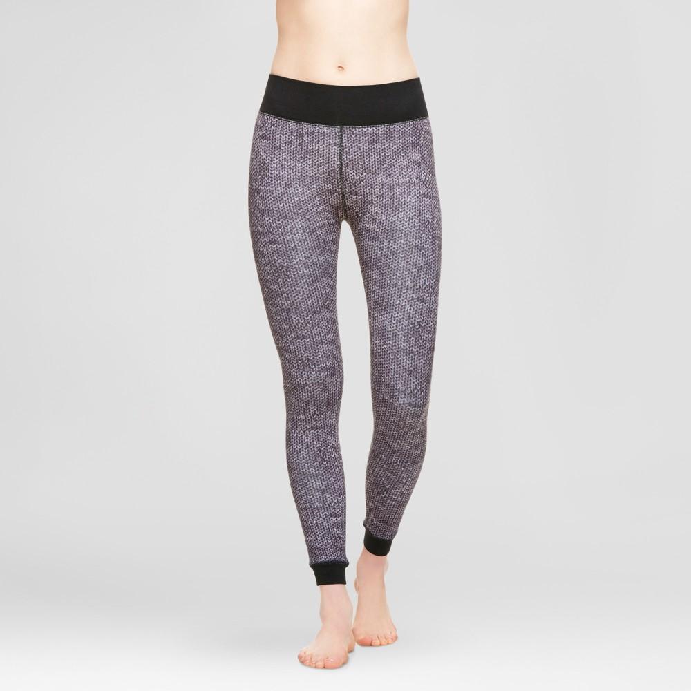 Wander by Hottotties Womens Velvet Leggings - Sweater Print L