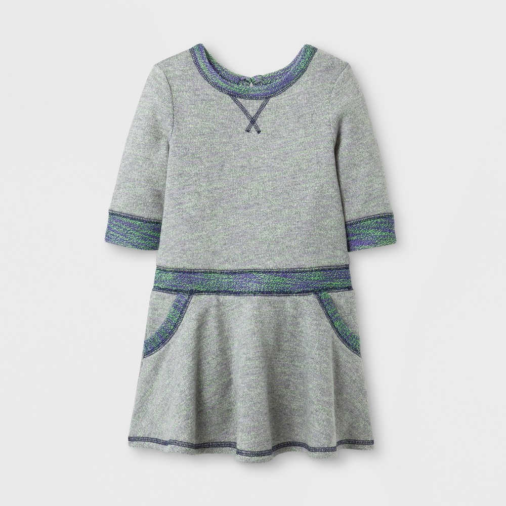 Toddler Girls A Line Dress - Cat & Jack Nightfall Blue 4T