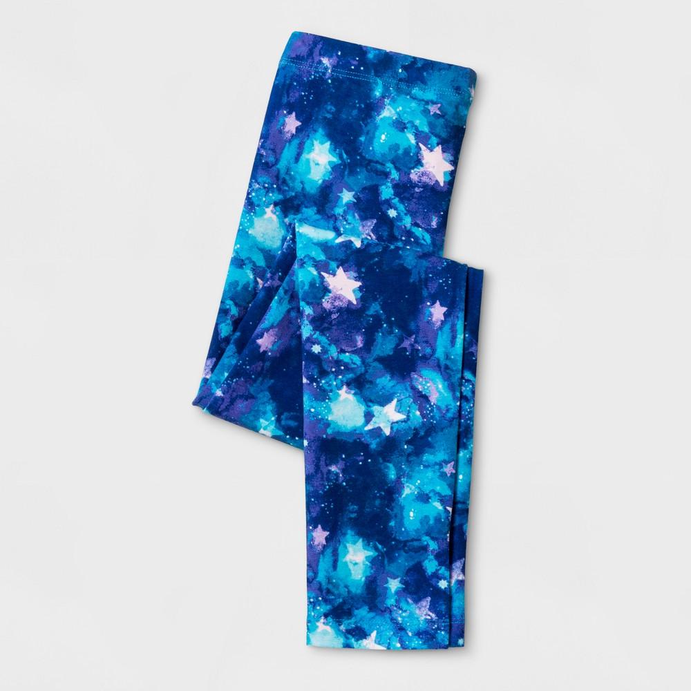 Girls Galaxy Print Favorite Leggings - Cat & Jack Blue XL