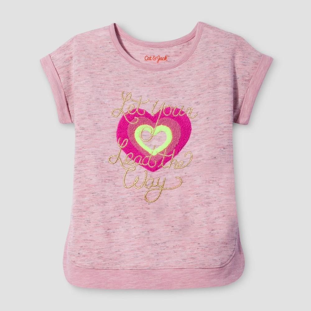 Toddler Girls Mini Cap Sleeve T-Shirt - Cat & Jack Moxie Peach 5T, Orange