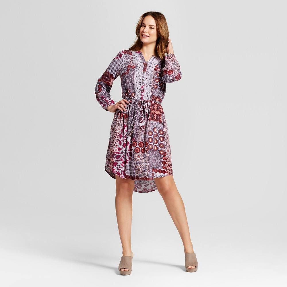 Womens Mix Print Tie Waist Dress - Knox Rose XS, Multicolored