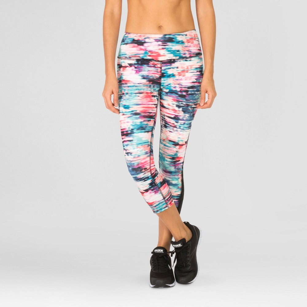 Rbx Women's Capri with Impressions Print/Mesh – Multi-Colored XL