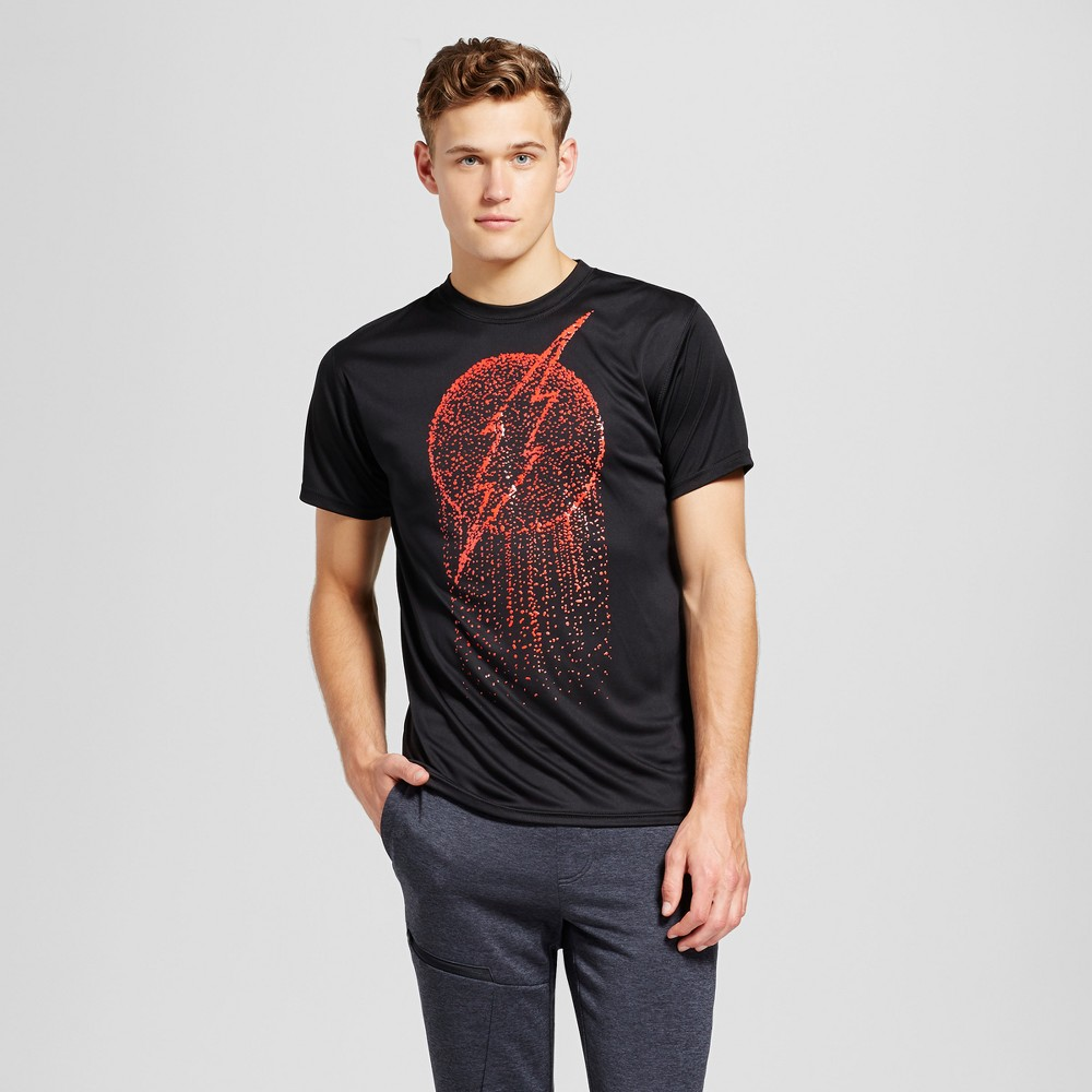 Mens The Flash Activewear T-Shirts Black XL