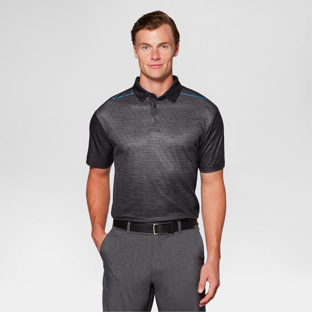 Mens Heather Ombre Golf Polo - Jack Nicklaus Caviar/Black Xxl