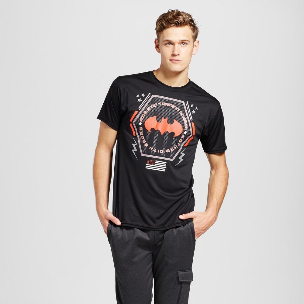 Mens Batman Activewear T-Shirts Black XL