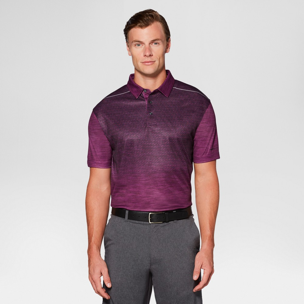 Mens Heather Ombre Golf Polo - Jack Nicklaus Potent Purple S, Dark Purple