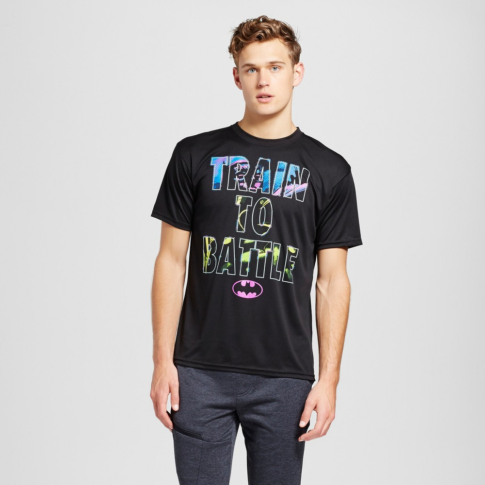 Mens Batman Activewear T-Shirts Black M