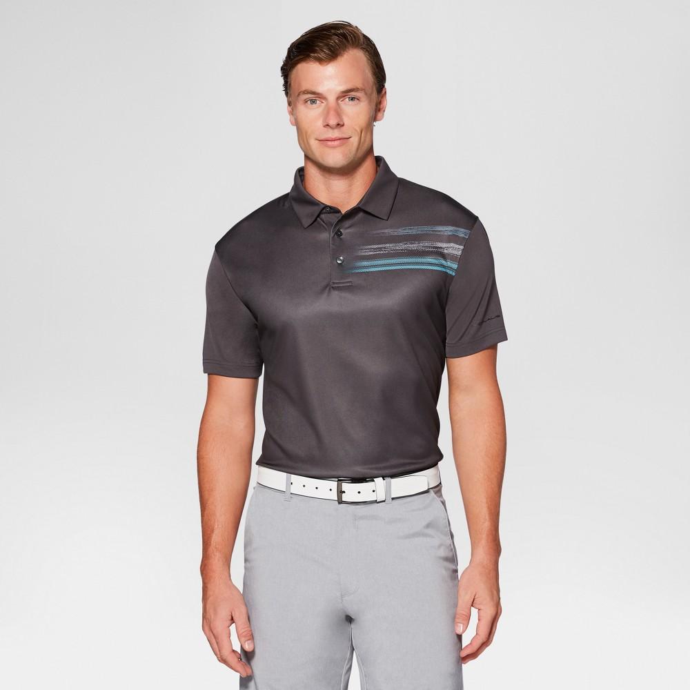 Mens Printed Golf Polo - Jack Nicklaus Asphalt XL, Gray