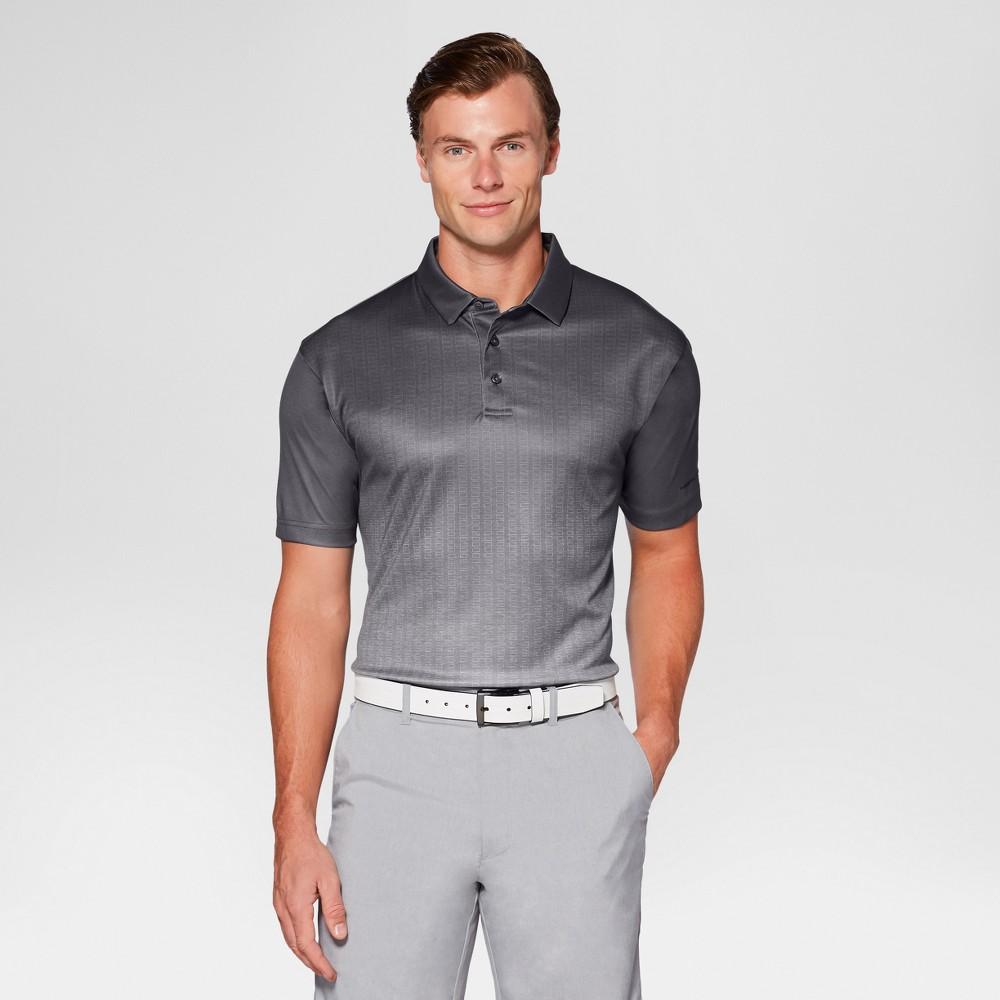 Mens Textured Ombre Golf Polo - Jack Nicklaus Asphalt/Gray S