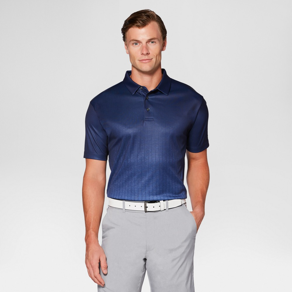 Mens Textured Ombre Golf Polo - Jack Nicklaus Peacoat/Blue XS