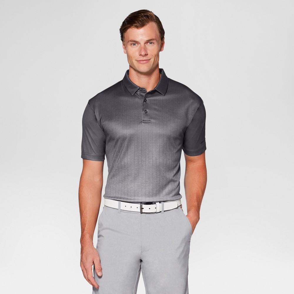 Mens Textured Ombre Golf Polo - Jack Nicklaus Asphalt/Gray Xxl