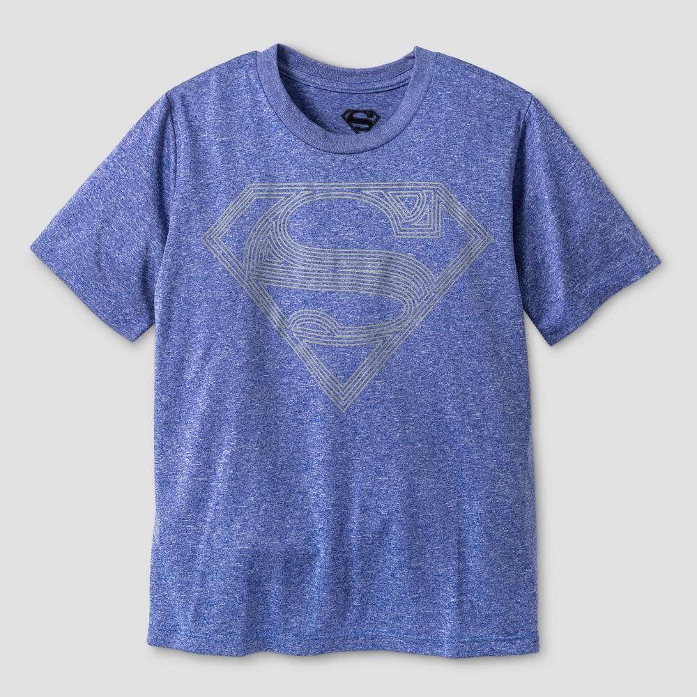 Kids Superman Activewear T-Shirts Royal Blue L, Boys