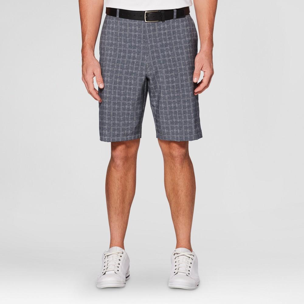 Mens Printed Tech Golf Shorts - Jack Nicklaus Quiet Shade/Dark Gray 28