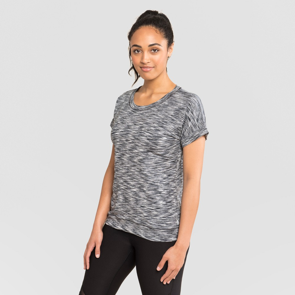Rbx Women's Multi Striated Dolman T-Shirt - Black/Spacedye XL