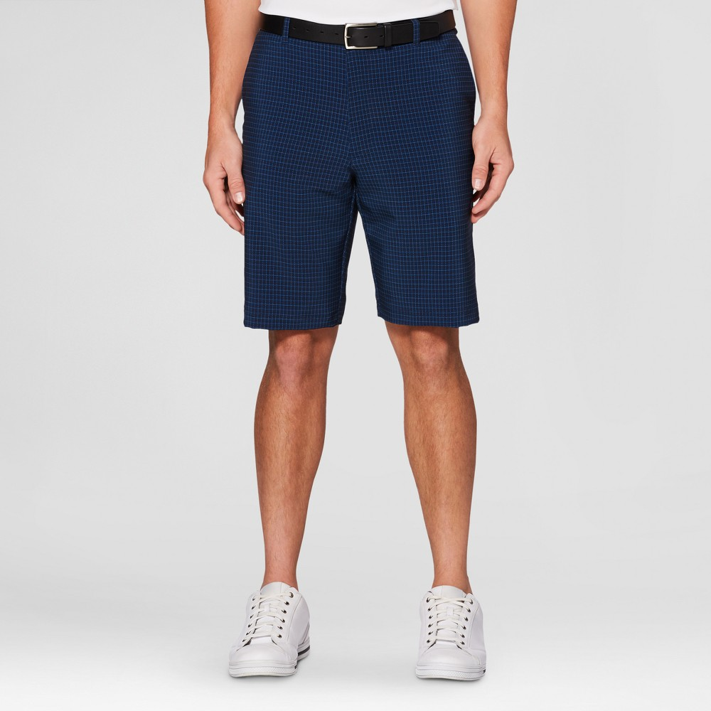 Mens Houndstooth Golf Shorts - Jack Nicklaus Peacoat/Navy Blue 30