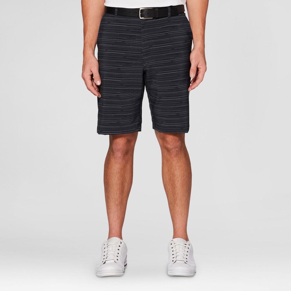 Mens Textured Printed Golf Shorts - Jack Nicklaus Caviar/Black 30