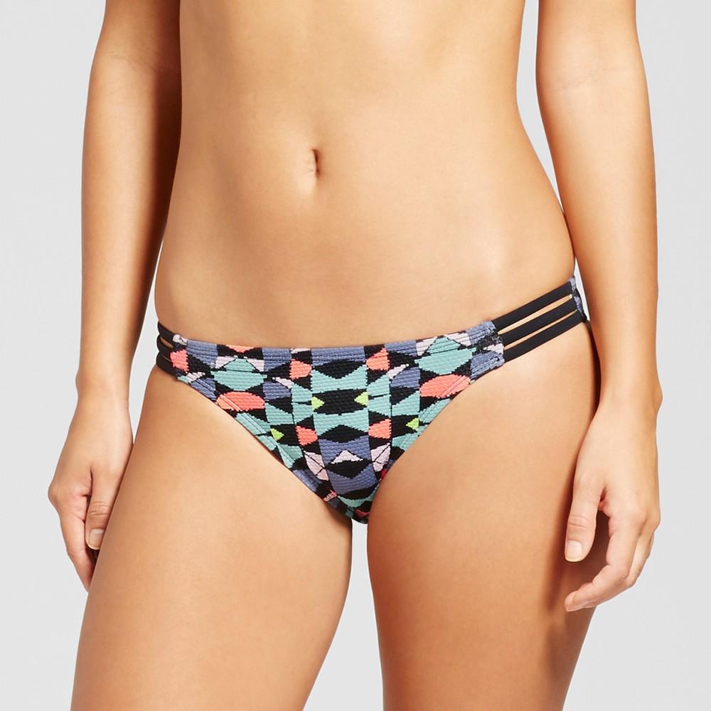 Womens Strappy Cheeky Bikini Bottom - Xhilaration Multi Print XL, Multicolored