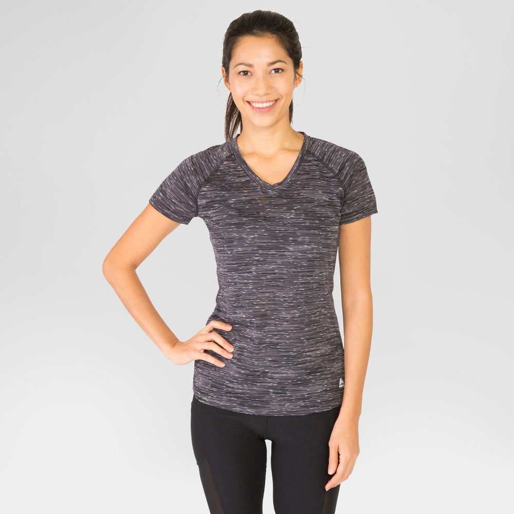 Rbx Women's Speckle Multi Spacedye T-Shirt - Black S, Black/White
