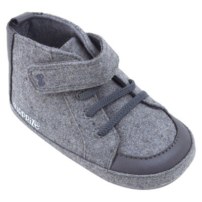 Baby Boys' Surprize by Stride Rite® Brad High Top Soft Sole Shoes - Gray 0-6M