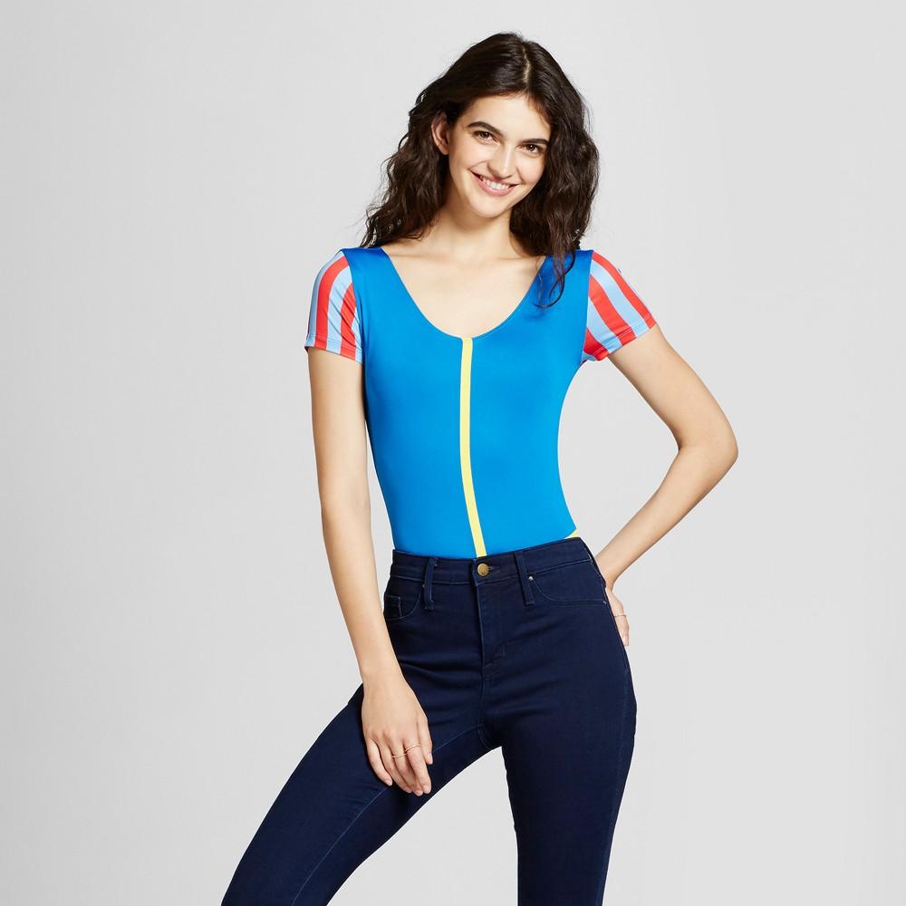 Disney Womens Snow White Bodysuit - Blue L (Juniors)