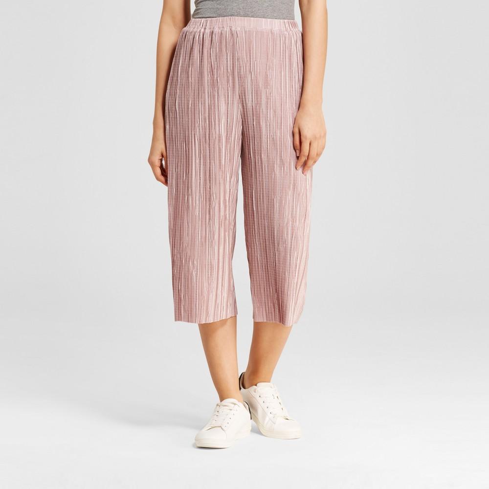 Womens Metallic Wide Leg Culotte Pants - Le Kate (Juniors) Mauve XL, Pink