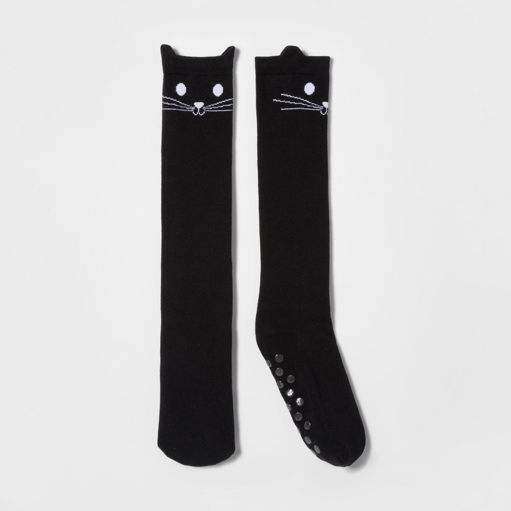 Under Disguise Womens Cat Knee High Socks - Black One SizeJuniors