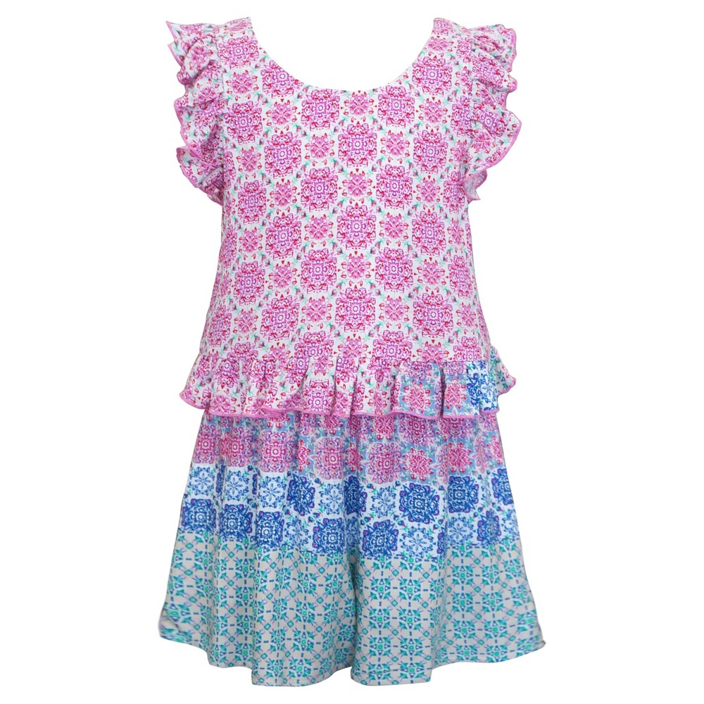 Girls Sara Sara Neon Romper - Purple XS