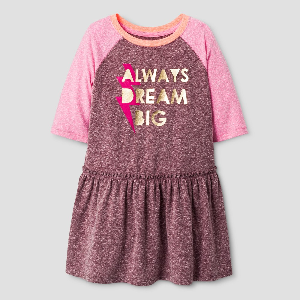 Toddler Girls A Line Dress - Cat & Jack Burgundy 4T, Red