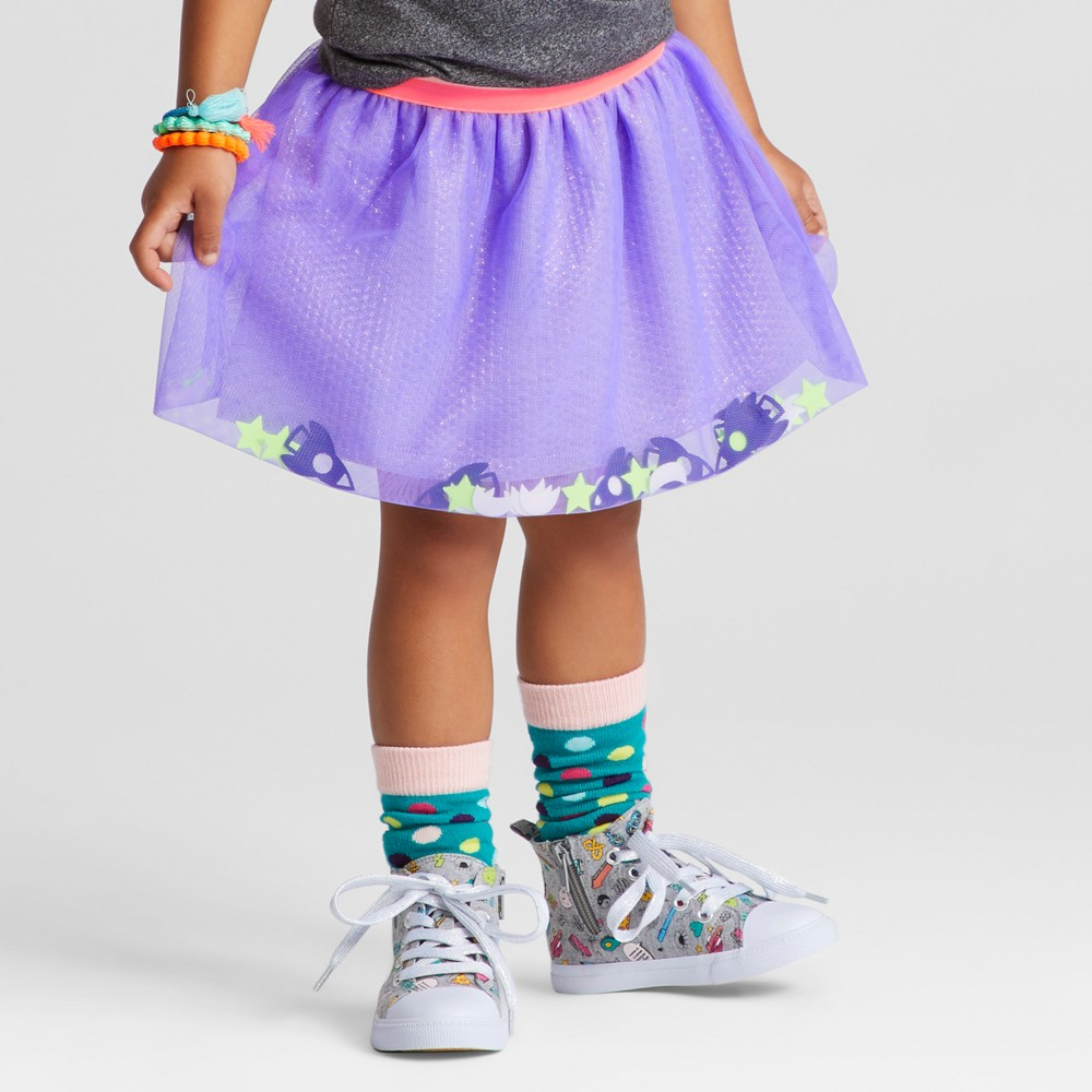 Toddler Girls Tutu Skirt - Cat & Jack Verily Iris 5T, Purple