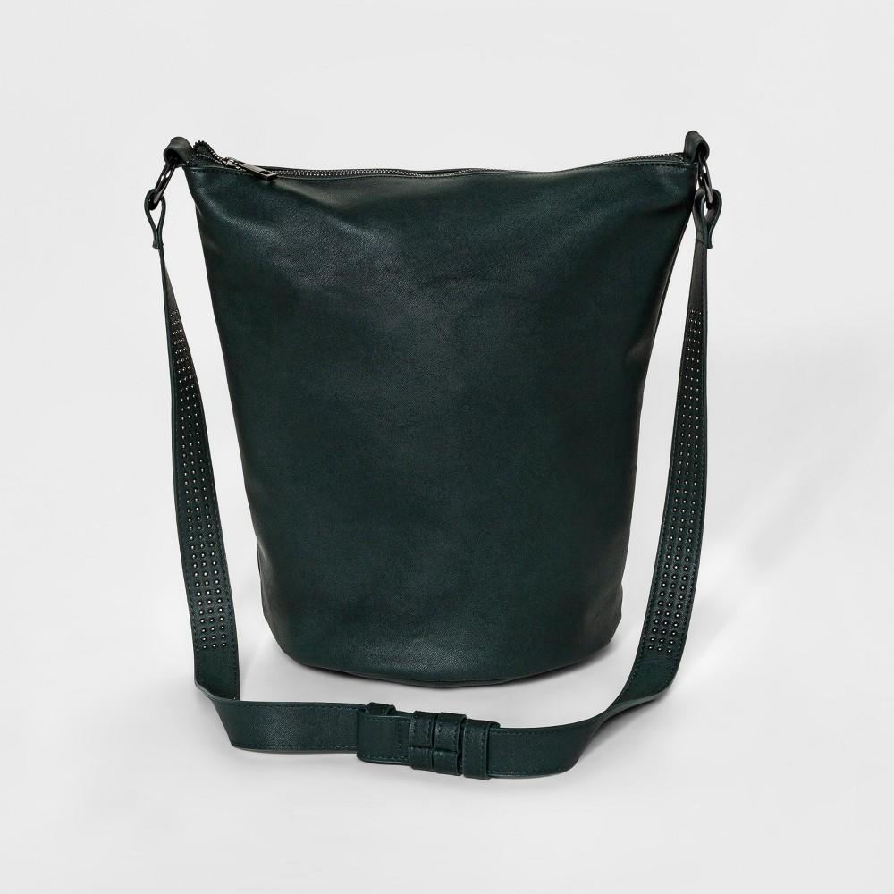 Womens Hobo Bucket Tote Handbag - Mossimo Supply Co. Dark Green