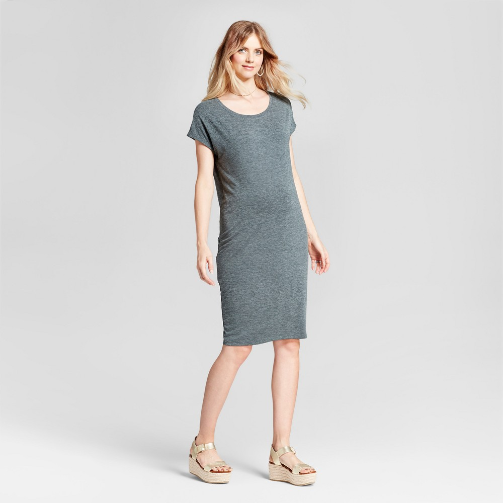 Maternity Easy Shift Dress - Isabel Maternity by Ingrid & Isabel Forest Green M, Womens
