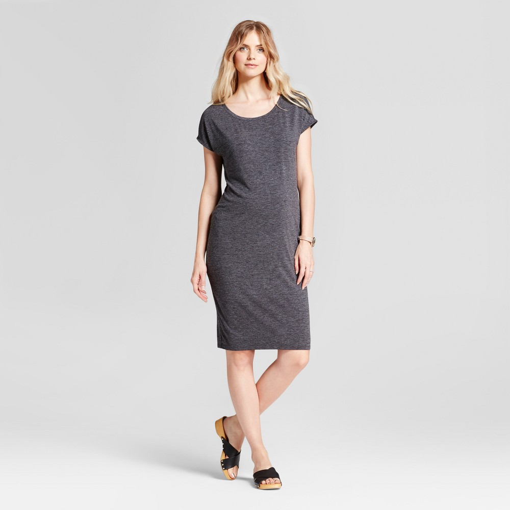 Maternity Easy Shift Dress - Isabel Maternity by Ingrid & Isabel Black L, Womens