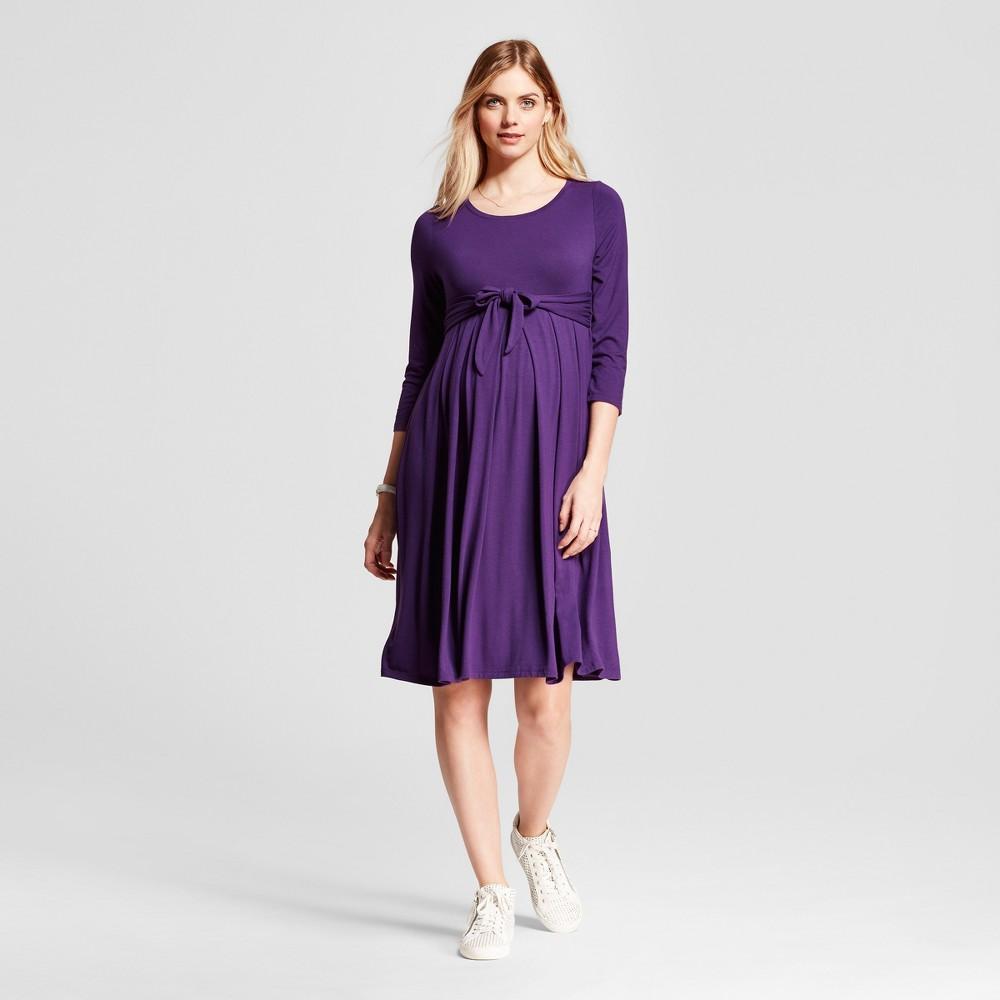 Maternity Easy Tie Waist Dress - Isabel Maternity by Ingrid & Isabel Purple S, Infant Girls