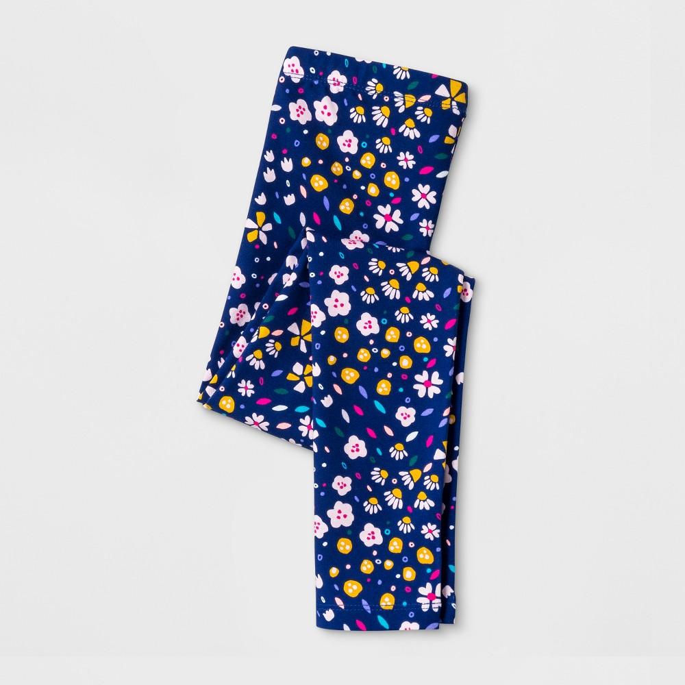 Girls Floral Favorite Leggings - Cat & Jack Blue XL