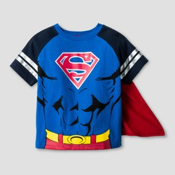 Toddler Boys' Superman Short Sleeve Cape T-Shirt - Blue/Red