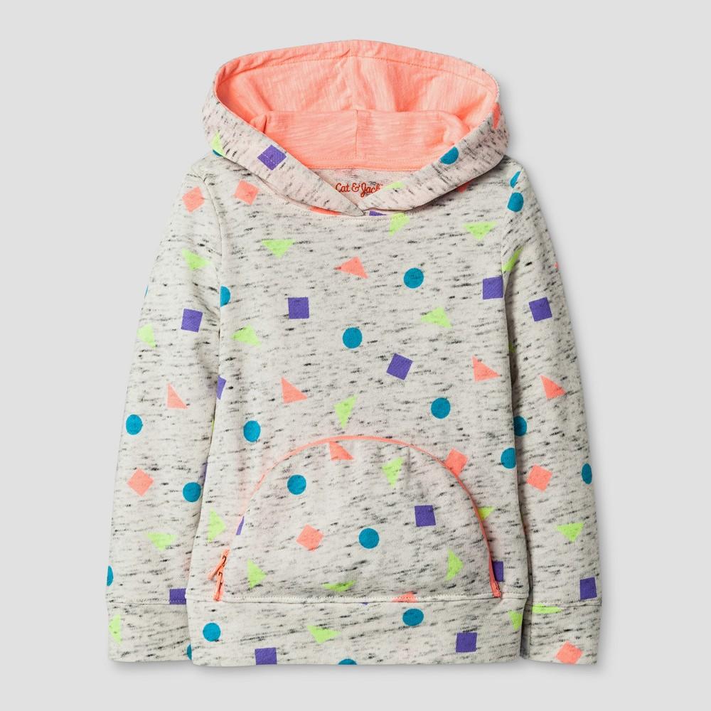 Toddler Girls' Long Sleeve Sweatshirt - Cat & Jack Heather Gray 18M, Size: 18 M