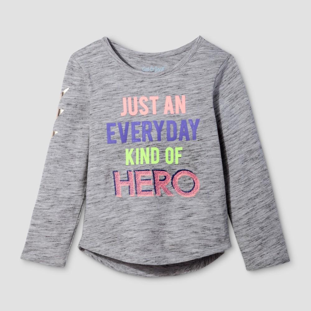 Toddler Girls Long Sleeve T-Shirt - Cat & Jack Black 5T