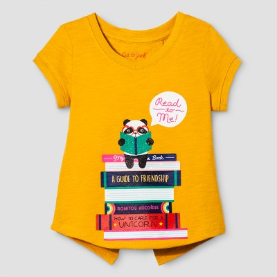 Toddler Girls' Cap Sleeve T-Shirt - Cat & Jack™ Marvel Flower Orange 12M