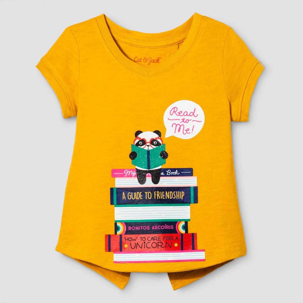 Toddler Girls Cap Sleeve T-Shirt - Cat & Jack Marvel Flower Orange 12M, Size: 12 M, Yellow