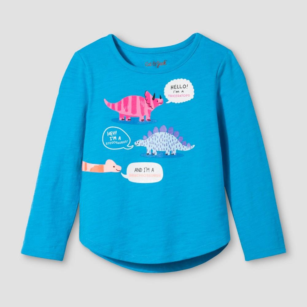 Toddler Girls Long Sleeve T-Shirt - Cat & Jack Panama Blue 3T