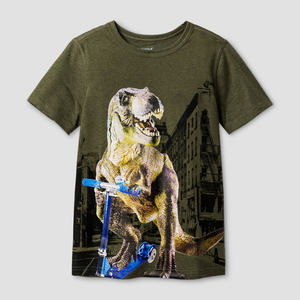Boys Sensory Friendly Graphic Short Sleeve T-Shirt - Cat & Jack Green XL