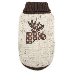 Northern Woods Moose Sweater Dog Costume - Brown