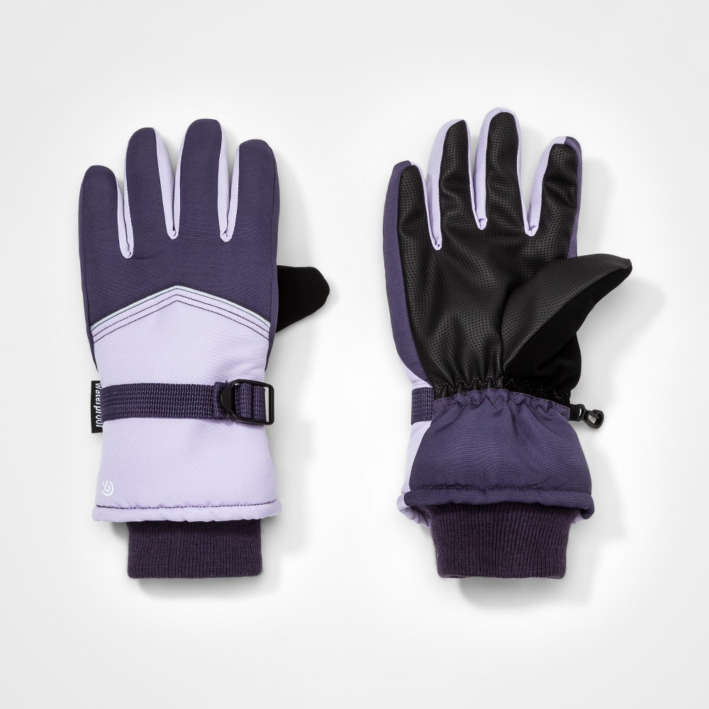 Girls Colorblock Gloves - C9 Champion Purple 4-7
